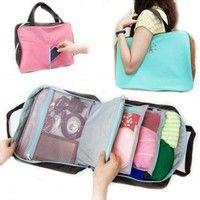 Wish | Travel Luggage bag Multifunctional Storage handbag Small Articles Clothes Organizer Computer Bag Suitcase Case Ladies Handbag Pouch