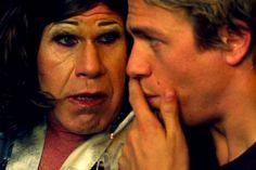 Ron Perlman as Phyllis and Charlie Hunnam as Frankie - Frankie Go Boom Image Credit: Perlmutations