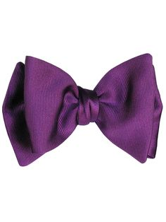 Sambuco-Silk Self Tie Bow-Violet