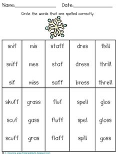 1000+ images about Floss and digraph ck on Pinterest | Phonics, Word ...