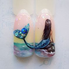 In search for some nail designs and some ideas for your nails? Here's our list of must-try coffin acrylic nails for modern women. Cute Nails, Pretty Nails, Sea Nails, Work Nails, Vacation Nails, Nails For Kids, Mermaid Nails, Bridal Nails, Wedding Manicure