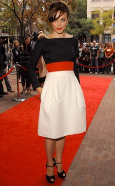 You don't normally see a modest dress on the red carpet