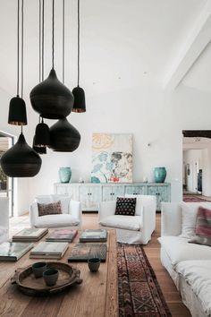 Salón. El estilo en el que está decorada la casa, heterogéneo y relajado…