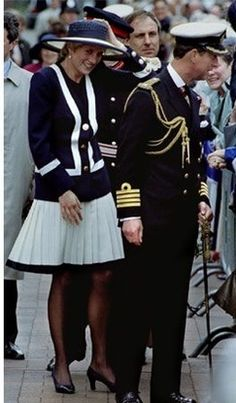 May 30, 1993: Princess Diana at the Battle of the Atlantic Commemoration Service in Liverpool.