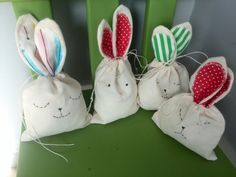 Funny bunnies with some sweets inside :-)