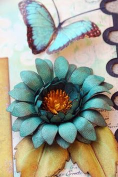 Done with Spellbinders Sunflower die w/tutorial
