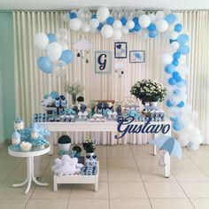 """95 Likes, 4 Comments - DasOlivias Ateliê de Festas (@dasolivias) on Instagram: """"E a festa desse fim de semana foi o Chá do Gustavo: Chuva de Bençãos! Tons de azul, com delicadeza…"""""""
