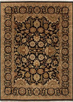 Atlantis Collection Taj 100% Wool Area Rug in Ebony design by Jaipur