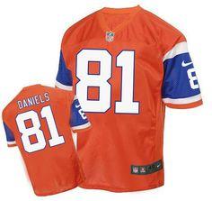 9c349515f ... Mens Denver Broncos 81 Owen Daniels White Super Bowl 50 Game Event  Jersey NFL jersey Pinterest ...