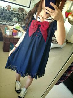 babydoll sailor style lolita dress