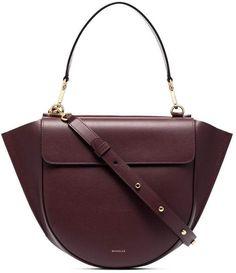 e2d56bd5e3b7 Hortensia Wandler Burgundy Medium Leather Cross-Body Bag Leather Crossbody  Bag