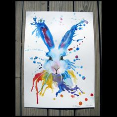 Watercolour hare painted for Morgan at PGL 2015 #racheljenkinson  #hare #watercolour