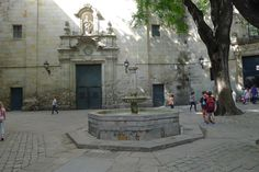 Placa Sant Felip Neri (historic place and memorial) - Barcelona, Spain