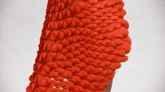 Nervous System created another 3-D printed plastic dress, and you can wear this one to work.