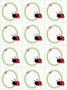 Card Tags, Gift Tags, Old Paper Background, Diy And Crafts, Crafts For Kids, Baby Ladybug, Ladybug Crafts, School Murals, School Labels