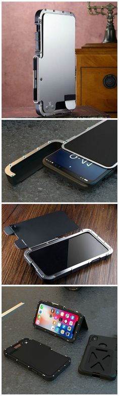 Aluminum Metal Shockproof Protective Cover - Ultra Cool design, perfect fit with your iPhone X.