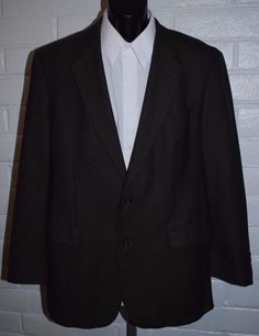 Brooks Brothers 346 Sport Coat 42 Long Wool 2 Button Notched Lapel Single Vent #BrooksBrothers #TwoButton
