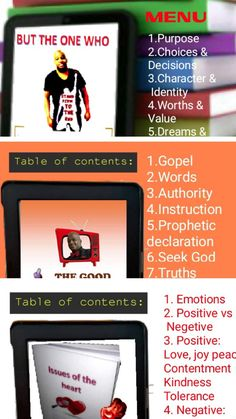 A published Author Table Of Contents, Word 3, Identity, Positivity, Author, Books, Libros, Content Page, Book
