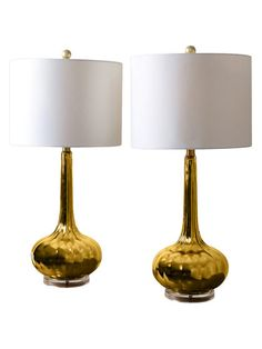 Selia Antiqued Table Lamps (Set of 2) by Abbyson Living at Gilt