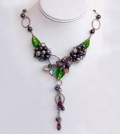 Bridal Necklace  Elegant Jewelry  Purple by CherylParrottJewelry, $250.00