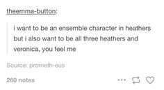 Coming soon to Broadway is Heather, Heather, Heather, and Me: A One Woman Show of Heathers the Musical