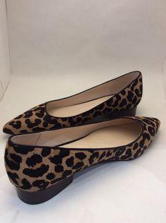 8393d4eafacc0 NIB Cole Haan Leopard Calf Hair Skimmer Shoes Size 8.5  fashion  clothing   shoes