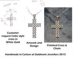Design to finish cross Cross Designs, Handmade Jewellery, Celtic, White Gold, Jewels, Artwork, Style, Swag, Handmade Jewelry