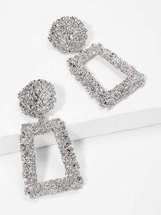 Cristal Sparkle Círculo Aro Pendientes Declaración Zara Blogger Love Island UK NUEVO