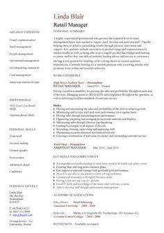 Sales assistant CV example, shop, store, resume, retail curriculum ...