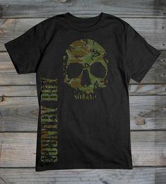 Country Boy ® Camo Skull tee