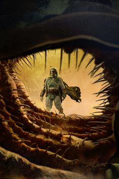 We all know that Bobafett didn't meet his end in the Sarlacc right? Here's my artwork to prove it. I sculpted the Sarlacc in Zbrush and photographed Boba with a rented costume. Star Wars Film, Star Wars Art, Star Trek, Film Trilogies, Episode Iv, The Old Republic, Star Wars Images, Star Wars Boba Fett, Disney Plus