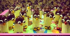 Een van de drukst bezochte foto's op mijn Pinterestbord en in dit blog; de choco pinguïn banaan van Reading Confetti ! Eindelijk kwam e...