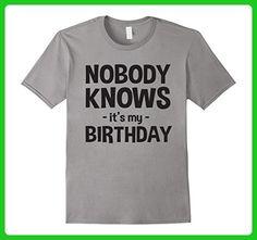 Mens Nobody knows it's my birthday t-shirt 3XL Slate - Birthday shirts (*Amazon Partner-Link)