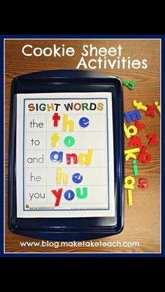 activities Sightword, cookie sheet word  Sight Sheet, Sheet Activities  Free  Word, Words, sight Sight