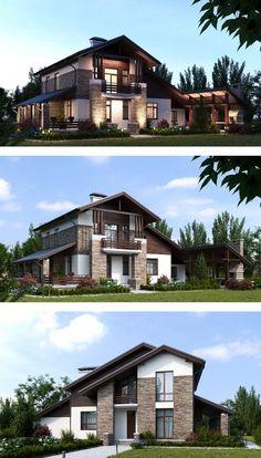 Design Haus Modern Mit Satteldach Architektur U0026 Quergiebel   Einfamilienhaus  Bauen Fertighaus Concept M 163 Bien Zenker Hausbau Ideen   HausbauDireu2026
