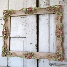 Painted picture frame wall hanging romantic by AnitaSperoDesign