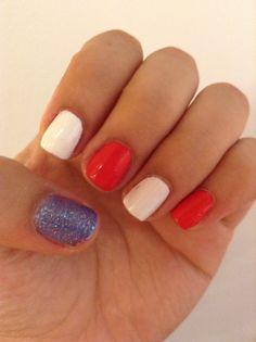Nails for 4th of july nails pinterest makeup and nail nail very easy 4th of july nails since i suck at doing designs prinsesfo Gallery