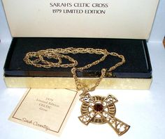 Vintage Sarah Coventry 1979 Limited Edition Celtic Cross Necklace w Original Box #SarahCoventry #Pendant