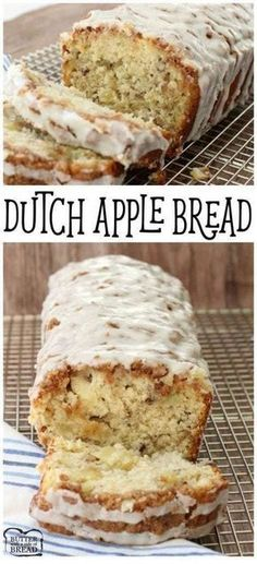 Dutch Apple Bread – recipe for homemade bread with wonderful flavor & filled with fresh apple. Butter With A Side of Bread Dutch Apple Bread – recipe for homemade bread with wonderful flavor & filled with fresh apple. Butter With A Side of Bread Breakfast Bread Recipes, Apple Dessert Recipes, Savory Breakfast, Apple Baking Recipes, Dutch Desserts, Recipes Dinner, Amazing Dessert Recipes, Green Apple Recipes, Breakfast Dessert
