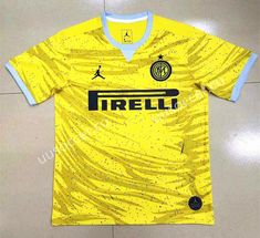 ff78b0f73 Super Version 2019-2020 Inter Milan Yellow Thailand Soccer Jersey AAA-809