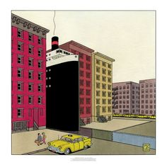 Joost Swarte - Between the bricks - Griffioen Grafiek