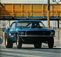 Mickey Thompson Mustang At Lions Drag Strip Years Boss Ford