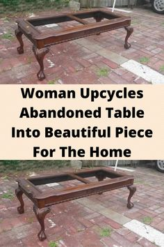 #Woman Upcycles #Abandoned Table Into #Beautiful Piece For The #Home