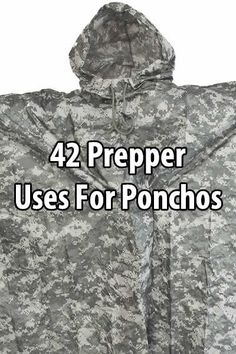 Ponchos are a great way to stay dry in the rain, but did you know there are also many prepper uses for ponchos? A poncho can be a prepper's best friend.