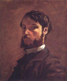 Self-Portrait, 1868, Frederic Bazille Size: 54.6x46.4 cm Medium: oil on canvas