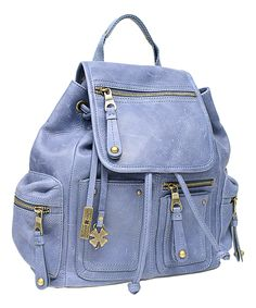 Periwinkle Cargo Leather Backpack / Lucky Brand