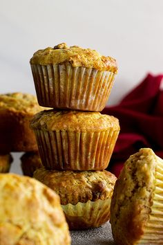 These Raisin Bran Muffins are subtly sweet and full of fiber. They are a great way to start off the day and the batter can be stored in the refrigerator for 6 weeks! Baking Cupcakes, Cupcake Recipes, Dessert Recipes, Brunch Recipes, Breakfast Recipes, Breakfast Ideas, Desserts, Breakfast Pastries, Breakfast Cookies