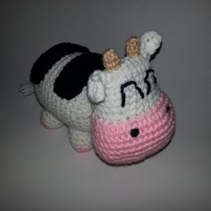 Crocheted Harvest Moon Cow Plush (30.00 USD) by PleasantPlushies
