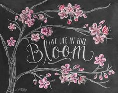 Hey, I found this really awesome Etsy listing at https://www.etsy.com/listing/180960463/spring-print-cherry-blossoms-chalk-art