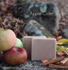 This cold process apple cider soap has a warm spicy scent thanks to the addition of all natural cinnamon and ginger essential oils. Handmade Soap Recipes, Soap Making Recipes, Handmade Soaps, Diy Soaps, Handmade Headbands, Handmade Rugs, Handmade Crafts, Homemade Apple Cider, Savon Soap